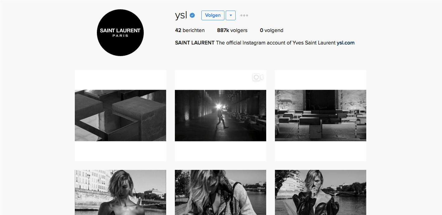 Yves Saint Laurent Instagram