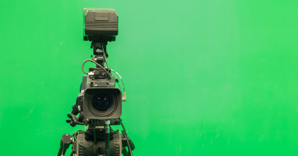 Filmen met green screen
