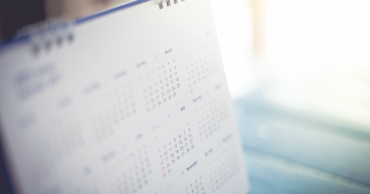 Close-up van kalender